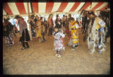 Jingle and fancy dancers, Mandan Indian Cultural Powwow, Mandan, N.D.
