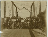 Large group on bridge, probably Pierce County, N.D.