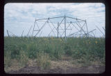 Base of transmission line tower