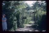 Iron entrance gate to Theodore Roosevelt's cabin, North Dakota State Capitol Grounds, Bismarck,...