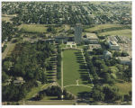 Aerial view of the North Dakota capitol grounds, Bismarck, N.D.