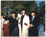 Buckshot Hoffner, Jim Sperry and Dennis Neumann in period dress, Bismarck, N.D.
