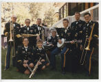 Military band at North Dakota Centennial party, Bismarck, N.D.