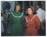 Laverne Johnson and Gwyn Herman in pioneer dresses, Bismarck, N.D.