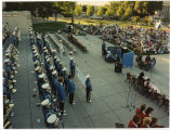 View of North Dakota Centennial Band and crowd, Bismarck, N.D.