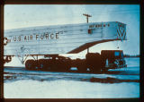 Air Force Missile trailer arriving on site, North Dakota