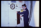 Crew inspection at Launch Control Equipment Building, B-0 Missile Launch Facility, Langdon, N.D.