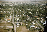 Aerial view of Bismarck, looking  east on Avenue D