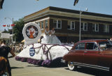 Elks float in Elks Parade, corner of Broadway and 2nd Street, Bismarck, N.D.