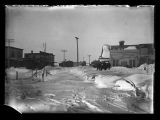 Business district after blizzard, Kenmare, N.D.