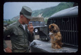 Soldier and pet dog in Korea