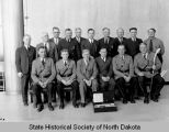 Walter Welford and North Dakota Highway Patrolmen group portrait
