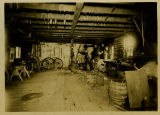 I.J. Basken working his General Blacksmith shop, Pembina County, N.D.