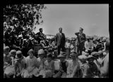 George F. Shafer at Dedication of Little Missouri Bridge, 17 miles south of Watford City, N.D.