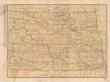 Rand McNally new commercial atlas map of North Dakota