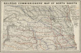 Railroad Commissioners' map of North Dakota