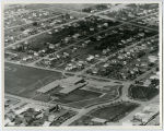 Aerial over school, New Town, N.D.