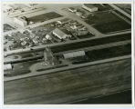 Aerial over elevator, New Town, N.D.