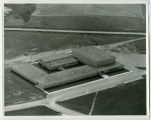 Aerial over school, Tioga, N.D.