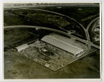 Aerial over Farmers Union Central Exchange warehouse, Williston, N.D.