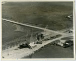 Aerial over co-op elevator, Blaisdell, N.D.