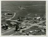 Aerial over Farmers Elevator, Des Lacs, N.D.