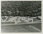 Aerial over mobile home park, Minot, N.D.