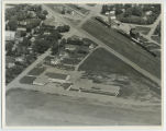Aerial over school, Carpio, N.D.