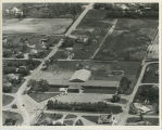 Aerial over school, Lansford, N.D.