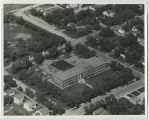 Aerial over school, Westhope, N.D.