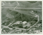 Aerial over school, Sawyer, N.D.