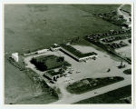 Aerial over Center Motel, Rugby, N.D.