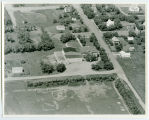 Aerial over school, Rolette, N.D.