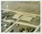 Aerial over school, Minnewaukan, N.D.