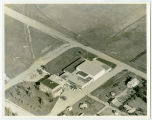 Aerial over school, Sheyenne, N.D.