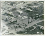 Aerial over Maddock Grain Company, Maddock, N.D.