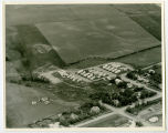 Aerial over mobile home park, Finley, N.D.