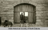 Stone entryway, Fort Abraham Lincoln