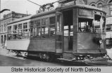 Last run of streetcar, Fargo, N.D.