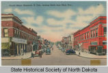 Fourth Street looking north from Main Avenue, Bismarck, N.D.