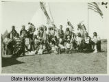 Native Americans at cornerstone laying, Bismarck, N.D.