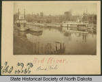 Steamboats H. W. Alsop or International and Selkirk, Red River, Grand Forks, Dakota Territory
