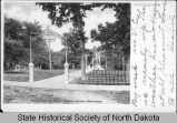 Entrance to State Normal School grounds, Valley City, N.D.