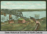 Northern Pacific railroad bridge over Missouri River, Bismarck, N.D.