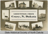 Composite postcard of Crary, N.D.