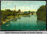 DeMers Bridge viewed from Point Bridge, Grand Forks, N.D.