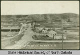 Crow Fly Mountain and town of Sanish, N.D.