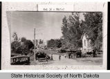 Scene outside Norman Lutheran Church, Clifford, N.D.