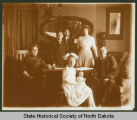 John Burke family portrait in parlor of Governor's Mansion, Bismarck, N.D.