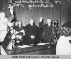 John Moses at Fred Aandahl's swearing in ceremony, Bismarck, N.D.